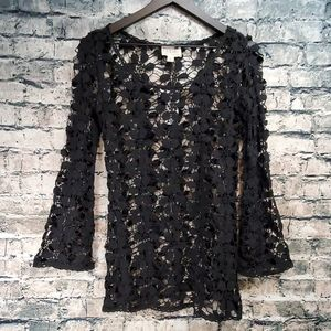 L.A. Hearts | Crochet Lace Gothic Sweater Top